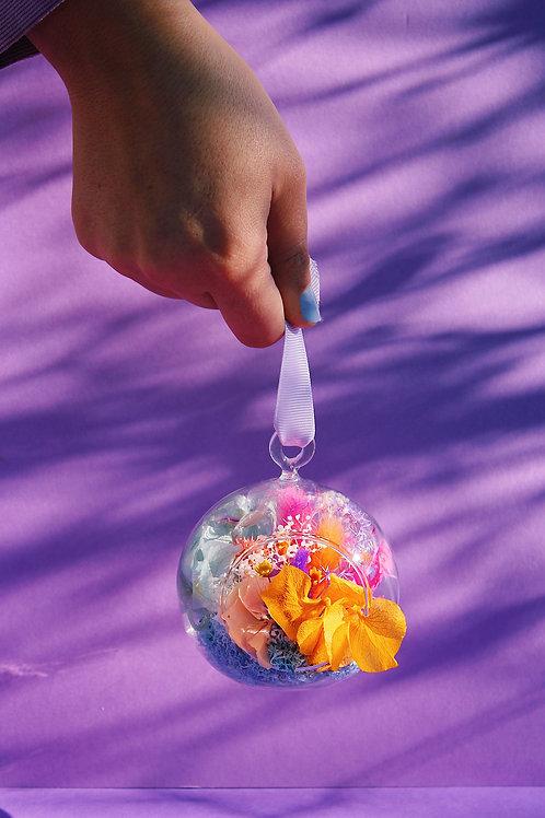 Boule fleurie Orange mauve