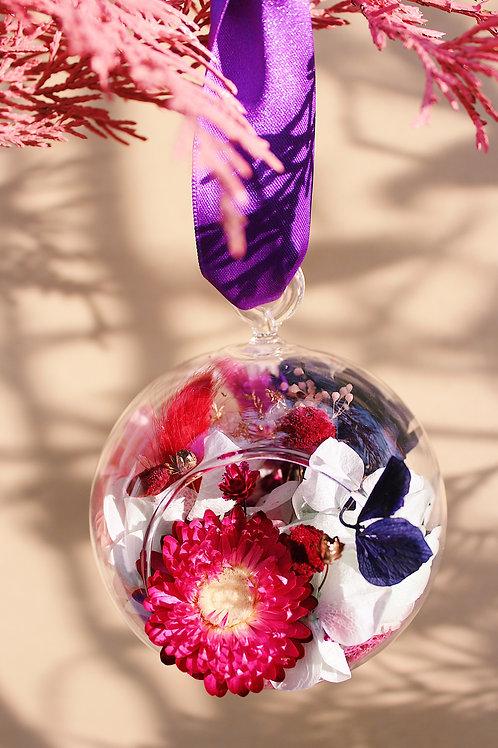Boule fleurie Raisin rouge