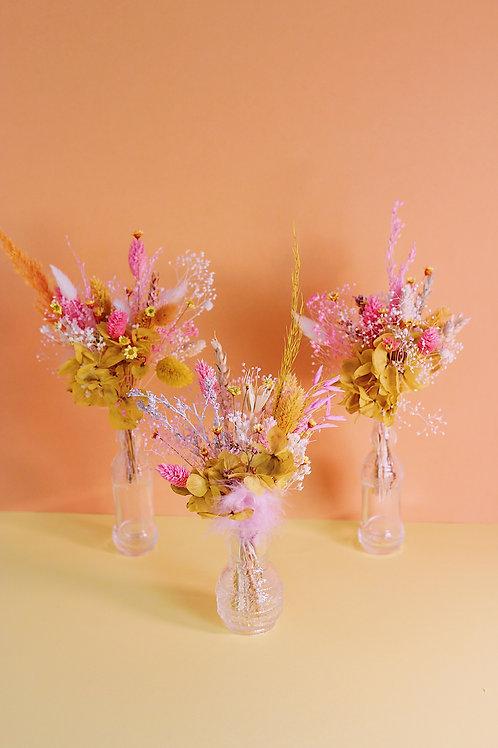 Trio de bouquets Melon rose