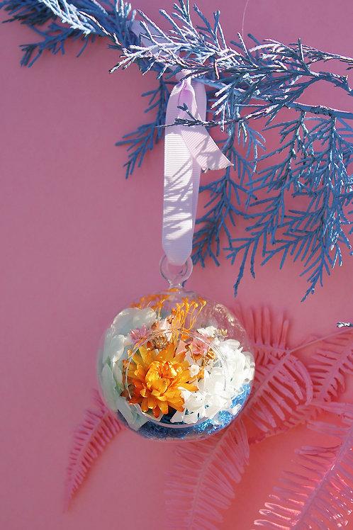 Boule fleurie Vanille bleue