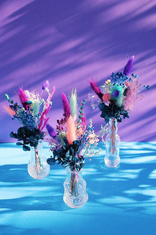 Trio de mini bouquets Coco turquoise