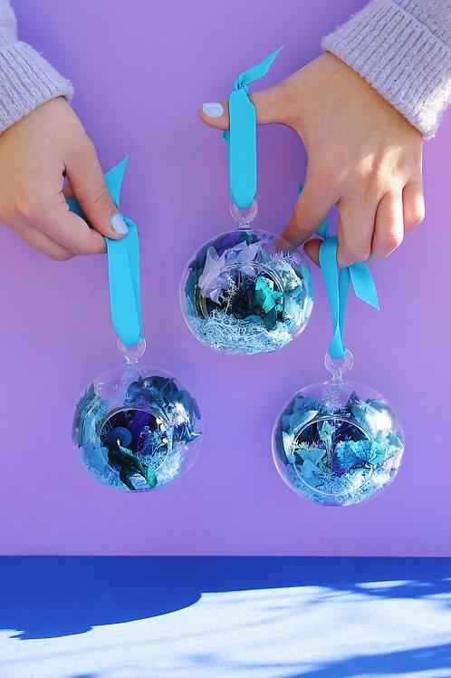Trio de boules Menthe bleue