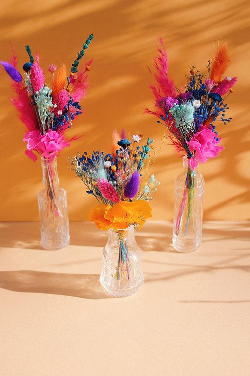 Trio de mini bouquets Pamplemousse bleu
