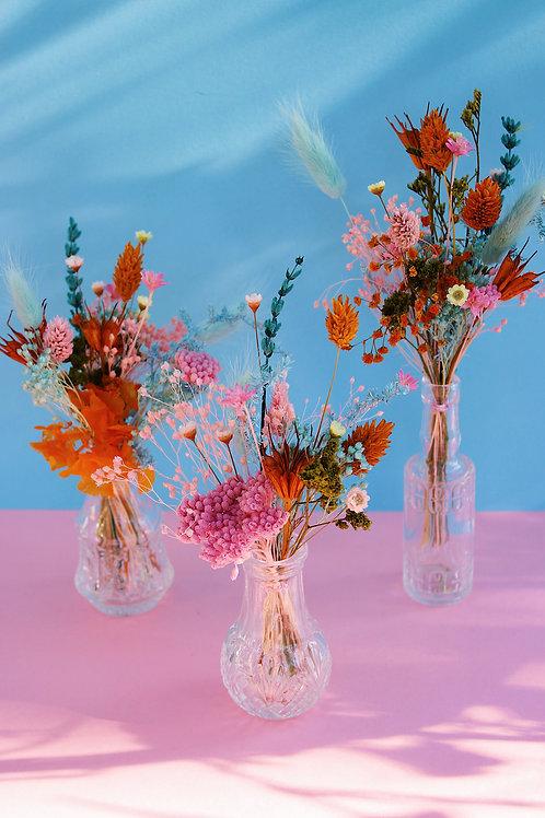 Trio de mini bouquets Pomelo rose