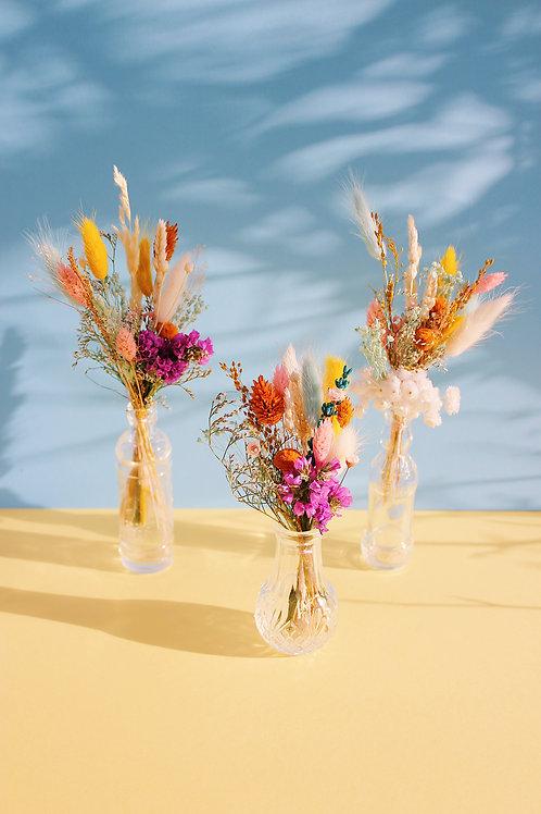 Trio de mini bouquets Citron bleu
