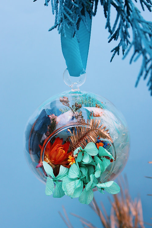Boule fleurie Mandarine verte