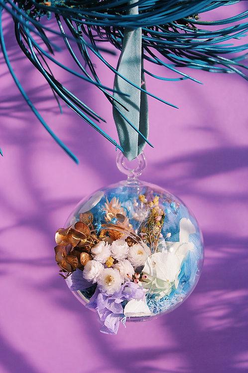 Boule fleurie Litchi bleu