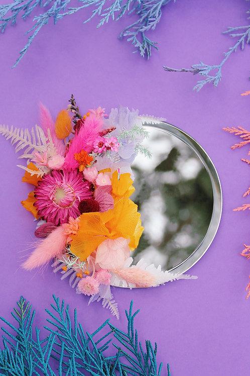 Petit miroir Panète rose