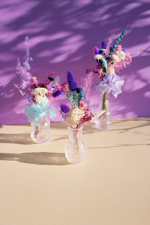 Trio de mini bouquets Figue blanche
