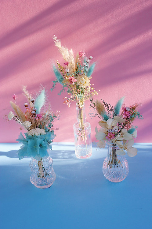 Trio de mini bouquets Raisin bleu