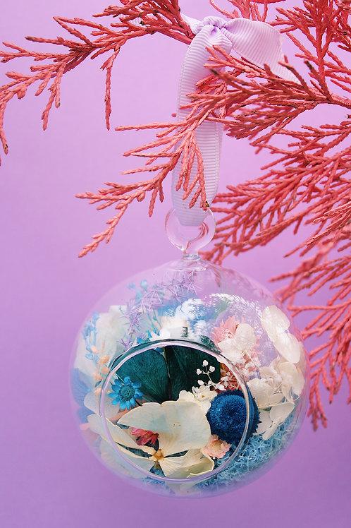 Boule fleurie Menthe bleue