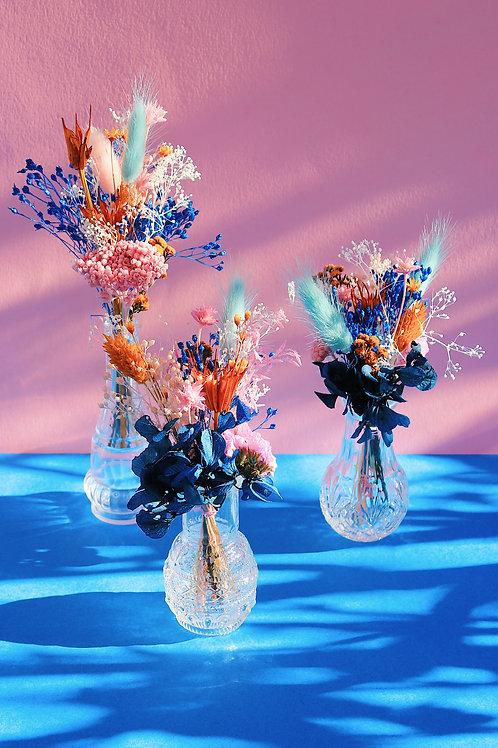 Trio de mini bouquets Melon bleu