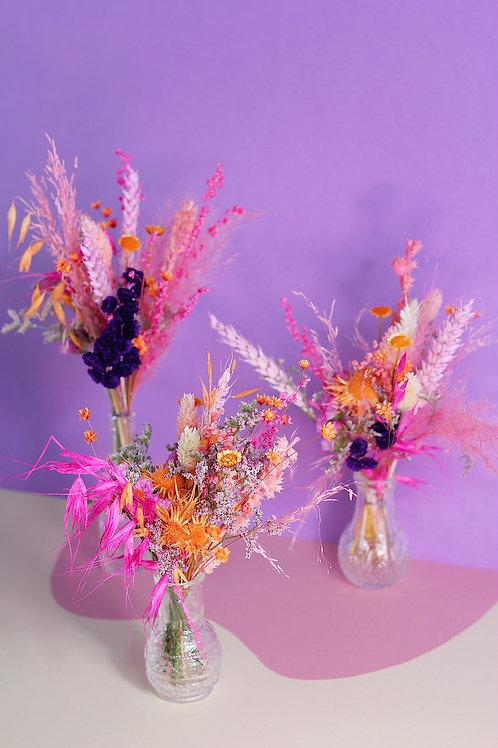 Trio de bouquets Mandarine mauve