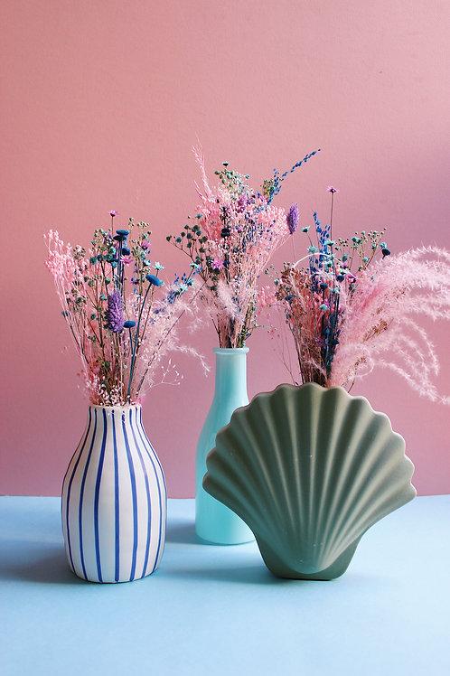 Trio de mini bouquets Pamplemousse turquoise