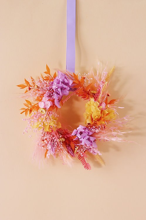 Petite couronne Abricot mauve