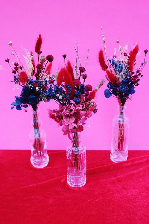 Trio de mini bouquets Grenade bleue