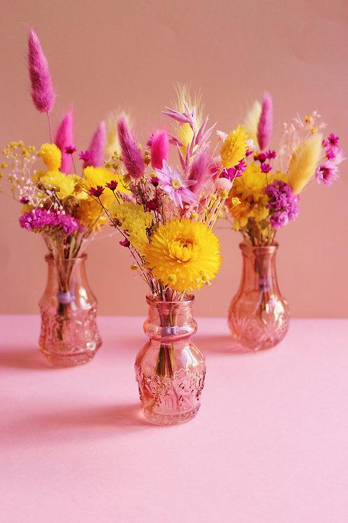 Trio de mini bouquets Banane rose