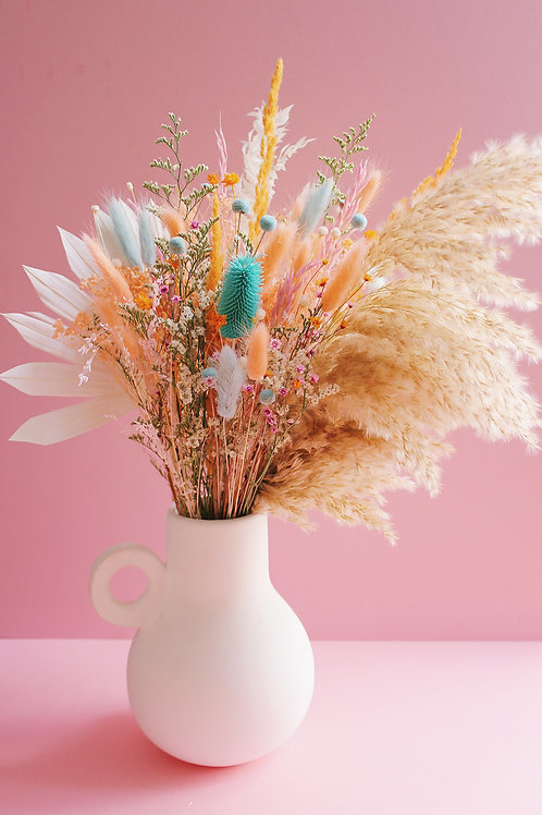 Bouquet Abricot turquoise