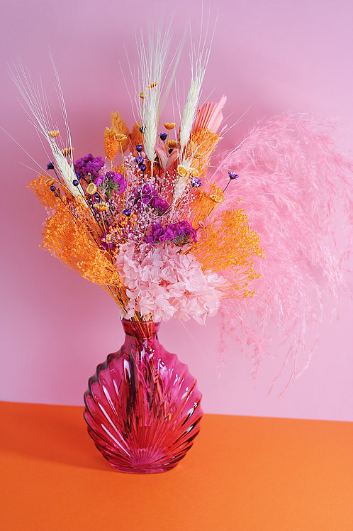 Bouquet Safran rose