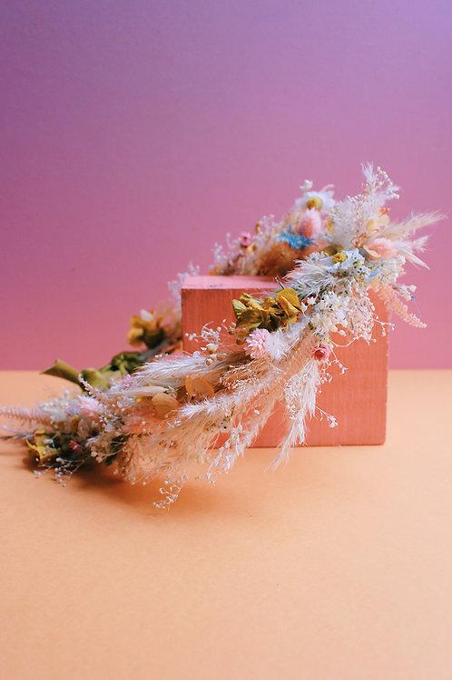 Couronne de fleurs personnalisable