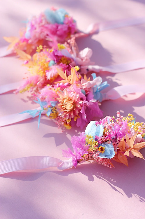 Bracelet de fleurs séchées sur-mesure