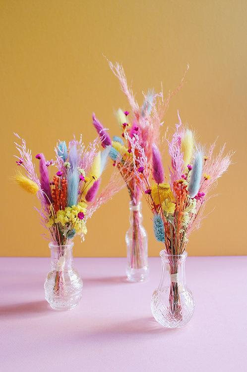 Trio de mini bouquets Arc-en-ciel