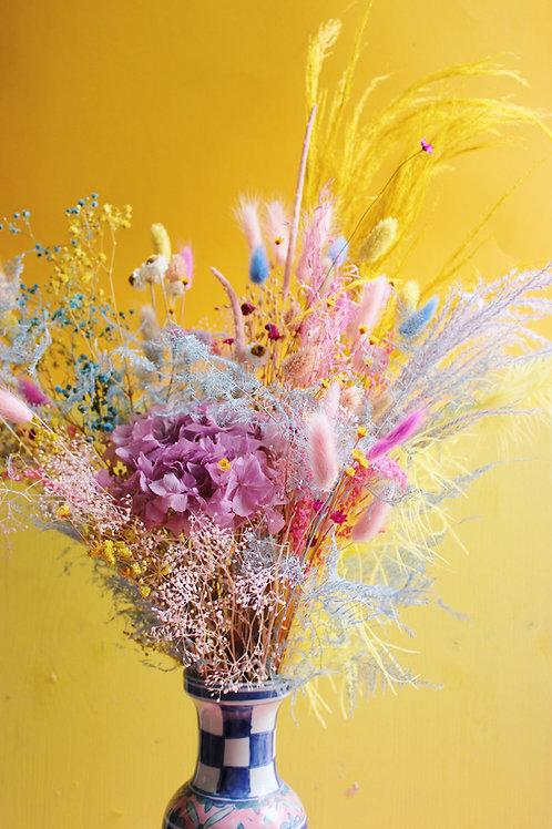 Le bouquet de fleurs séchées sur-mesure