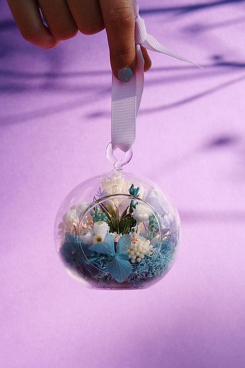 Boule fleurie Noisette bleue