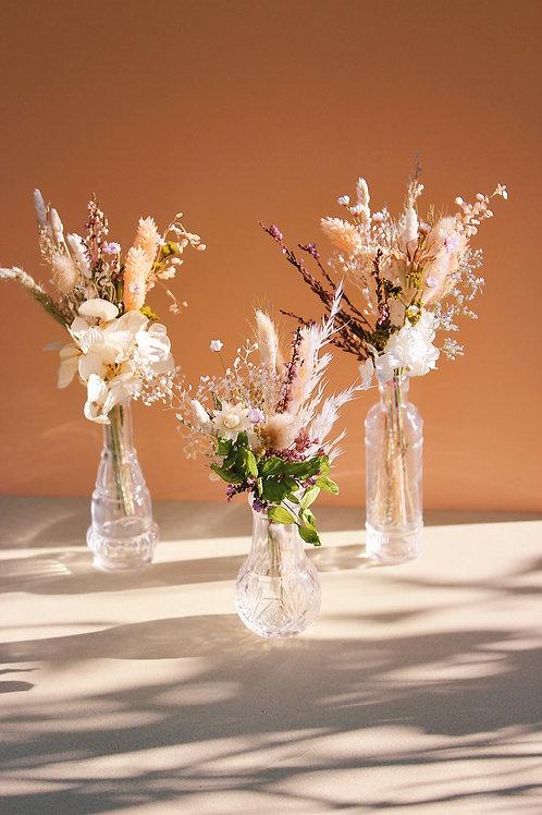 Trio de mini bouquets Raisin blanc