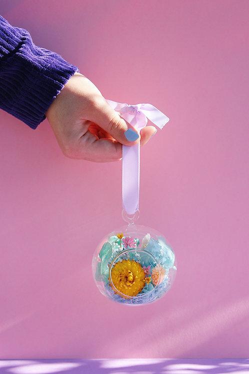 Boule fleurie Citron bleu