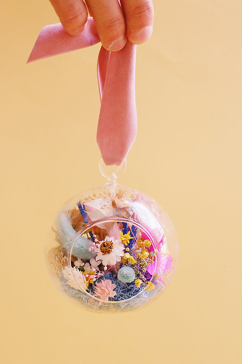 Boule fleurie Menthe framboise