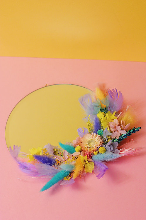 Miroir Astre jaune