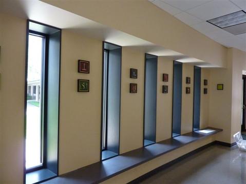Church hallway wall display