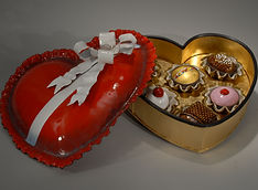 Valentine Candy container. Candies. enam