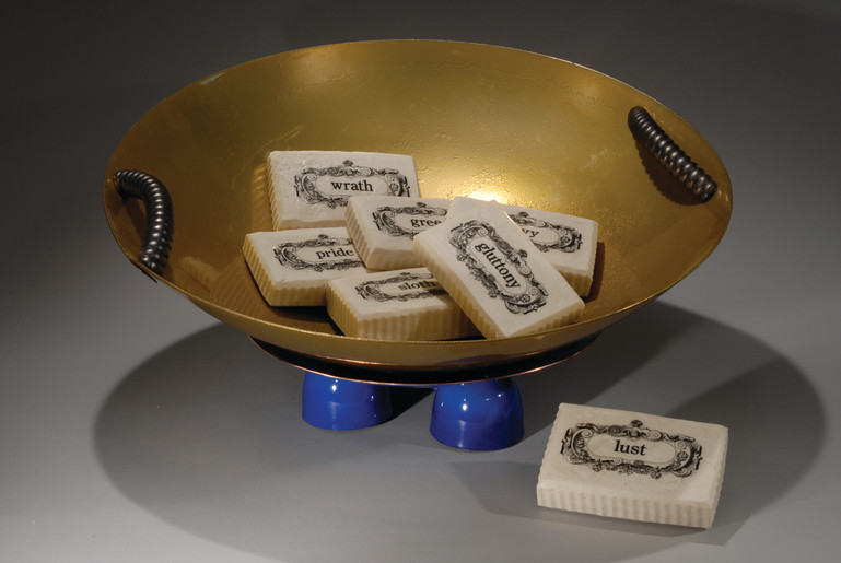 Soap Dish with Seven Deadly Sins Soap
