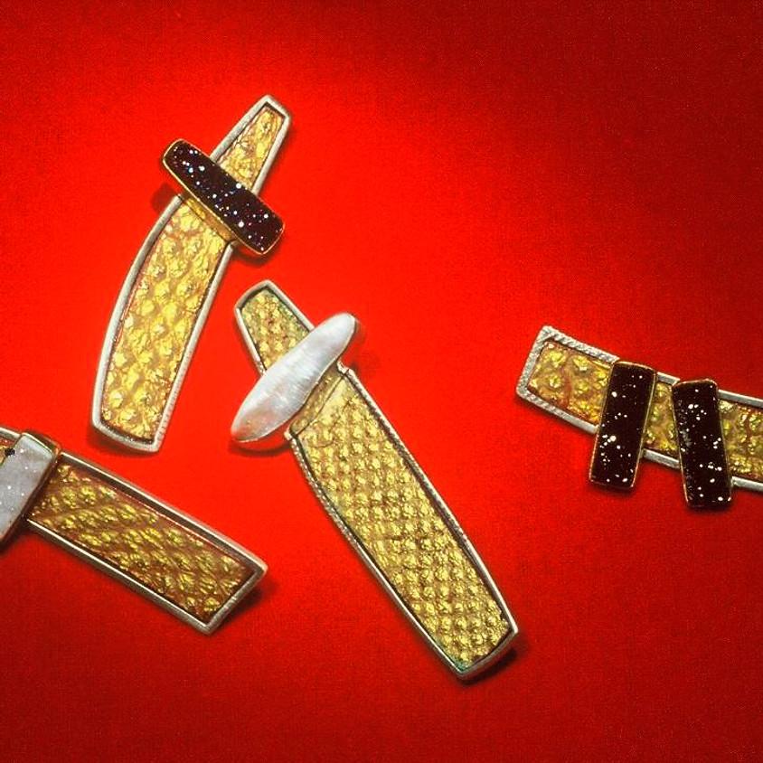 All That Glitters: Using Patterned/Embossed/Burnt Gold Foil in Enamel