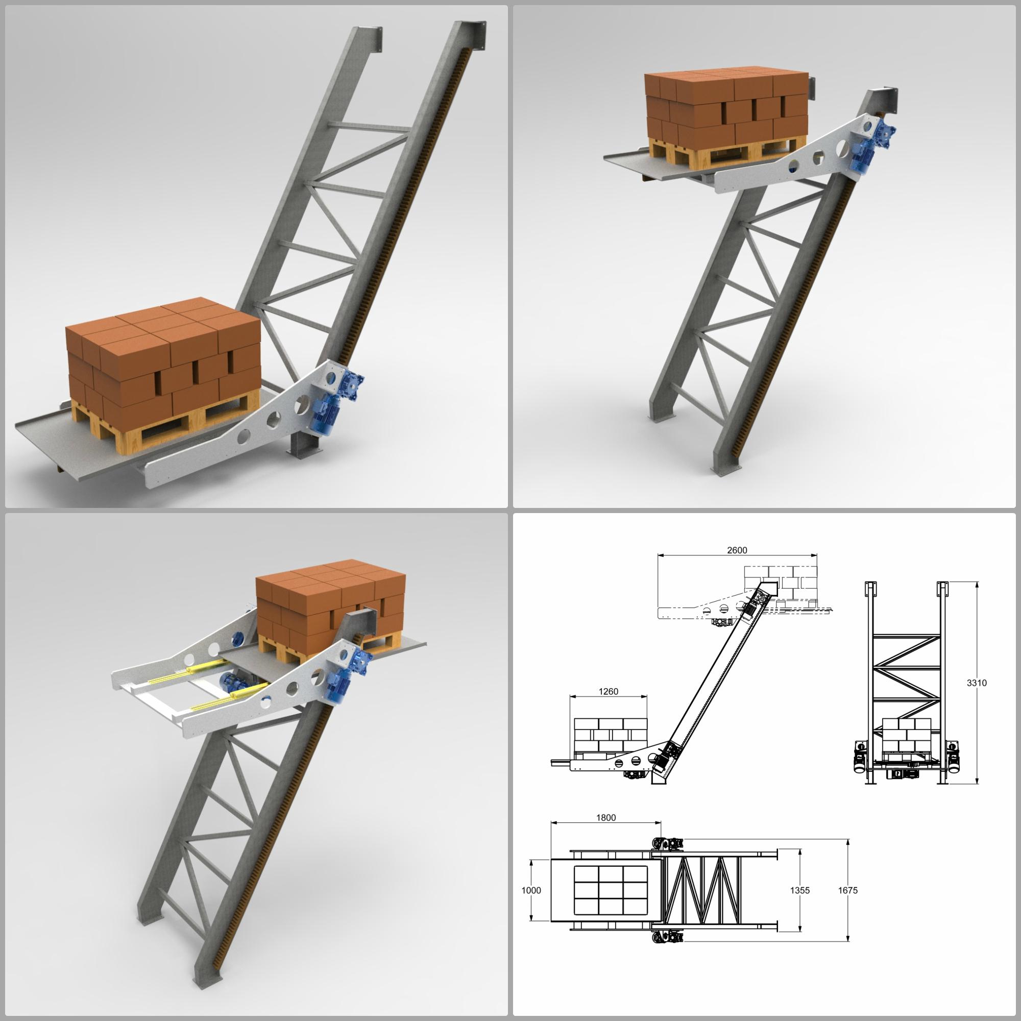 Lifting platform from floor to floor