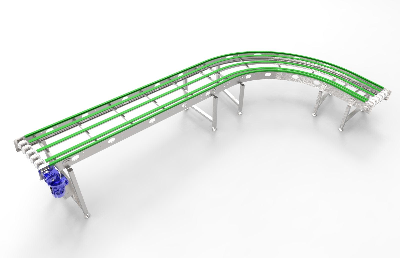 modular curve conveyor belt1.110