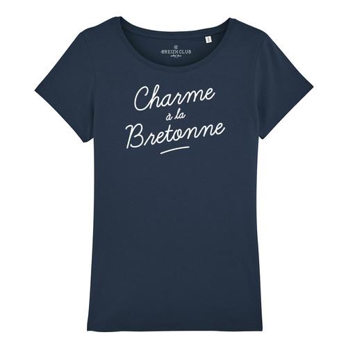 630a4dab9c5f7 T-shirt femme imprimé disponible en Blanc, bleu marine, gris chiné, bleu  ciel et rouge