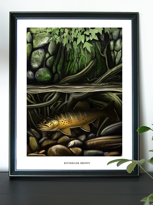 Riverbank Brown - Poster