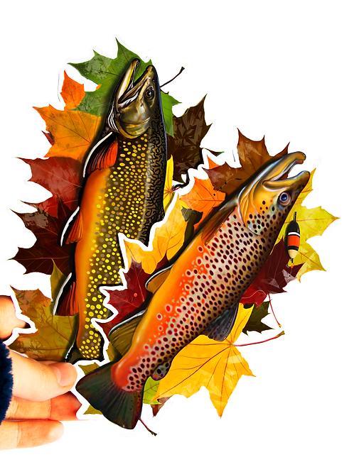 Autumn Trout - Waterproof Stickers