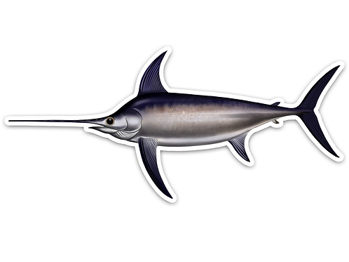 Swordfish - Waterproof Sticker