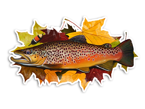 Autumn Brown - Waterproof Sticker