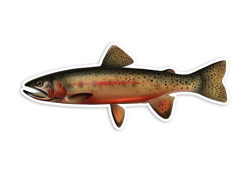 Cutthroat Trout V2 - Waterproof Sticker