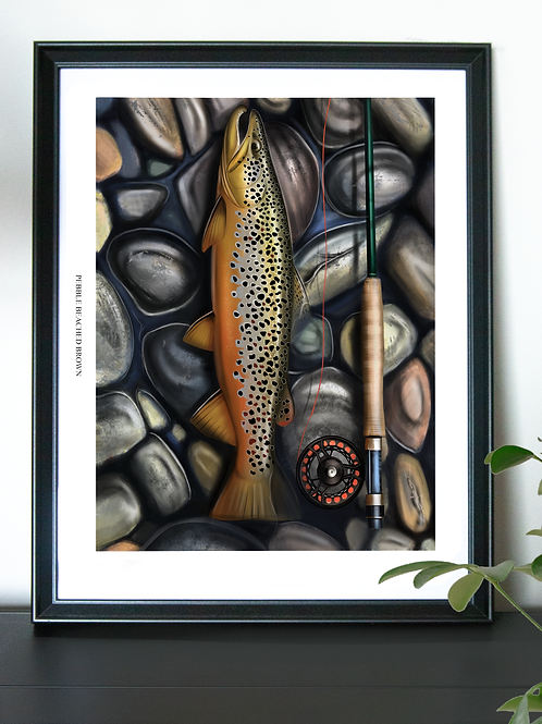 Pebble Beached Brown - Poster