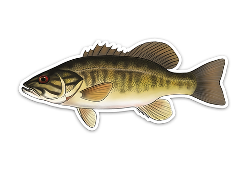 Smallmouth Bass - Waterproof Sticker