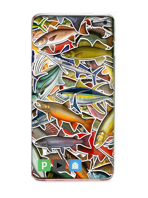 Digital Wallpaper Cover - (Mixed Species) Stickerbomb Theme
