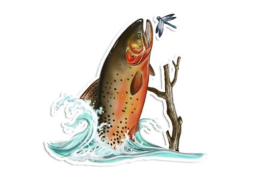 Cutthroat Illustration  - Waterproof Sticker