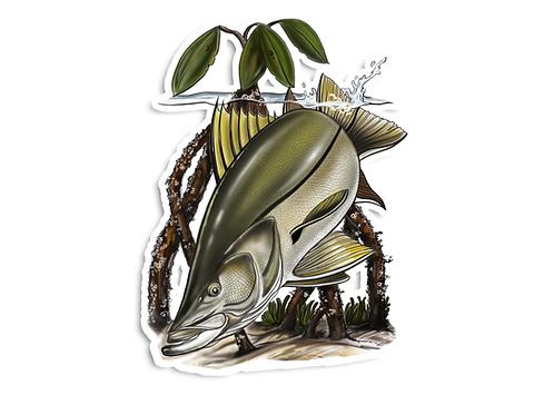 Snook (Mangroves) - Waterproof Sticker