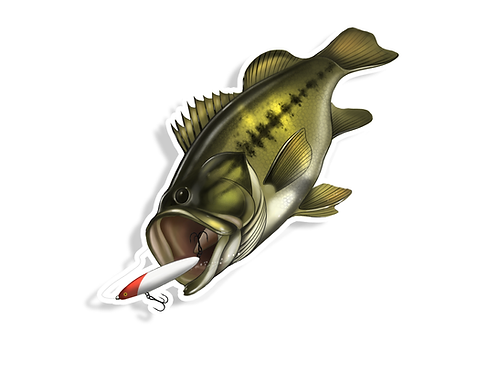 Striking Bass - Waterproof Sticker